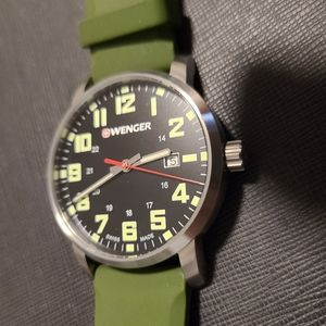 Wenger and Timex Green watches combo
